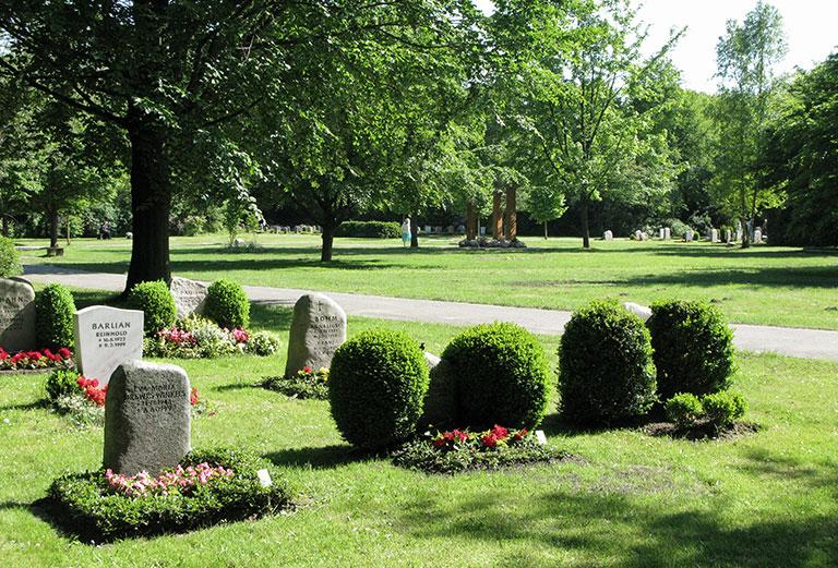Friedhof Volksdorf / Grabfelder